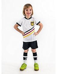 Fußball Trikotset Trikot Kinder 4 Sterne Deutschland WUNSCHNAME Nummer Geschenk Größe 116-170 T-Shirt Weltmeister 2014 Fanartikel EM 2016