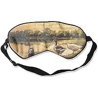 Sleep Eye Mask Geese On Lake Lightweight Soft Blindfold Adjustable Head Strap Eyeshade Travel Eyepatch preisvergleich bei billige-tabletten.eu