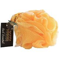 Esponja exfoliante de malla de nylon para el cuerpo/ Puff de baño/ color amarillo- Baño y ducha