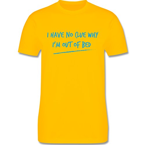 Shirtracer Statement Shirts - Why I'm Out of Bed - Herren T-Shirt Rundhals Gelb