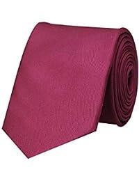 Tiekart Magenta Classic Silk Plain Solid Necktie for men