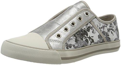 s.Oliver Damen 24626 Sneakers Mehrfarbig (SILVER/BLACK 932)