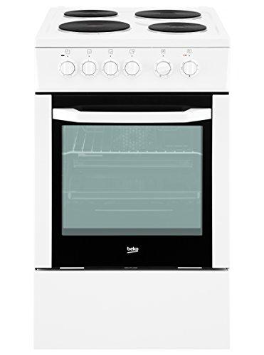 Preisvergleich Produktbild Beko CSE 56000 GW Standbackofen / A / Abdeckung für das Kochfeld / Blitz-Kochplatte / Vollglasinnentür / weiß