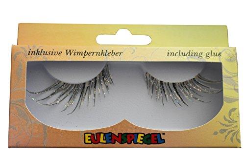 Eulenspiegel 001356 - Profi-Schminkfarben Wimpern Cabaret, silber, 1er Pack (1 x 2 (Wimpern Halloween Fake)