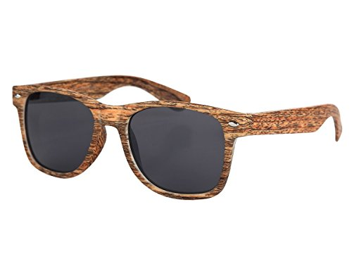 Sonnenbrille edle Holzoptik Brille Nerdbrille braun Holzlook Holz von Alsino, wählen:V-1243-1