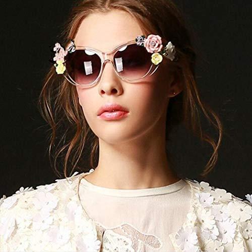 KISlink Lady Vintage Baroque Floral Sonnenbrille - Sommerbrille - Stereo Rose (Farbe: ORANGE)
