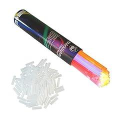 Idea Regalo - Rhino Glow 100 Pezzi Glow Sticks Starlights Braccialetti con connettori, Multicolore Blu, Verde, Rosso, Giallo, Arancione