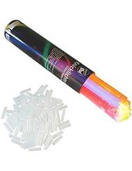 Rhino Glow resplandor de los palillos del resplandor, 200 Party Set glowsticks palos de luz del palillo del resplandor 5 colores Set + conector