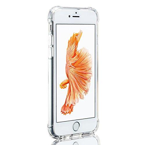iPhone 6S Schutzhülle, Apple iPhone 6S Silikon-Abdeckung Stoß- Ultra Slim Glanz Gel Stoßstange flexibel und weich iPhone 6-Hülle-TPU Stoßstange(Weiß) Coussin Transparent
