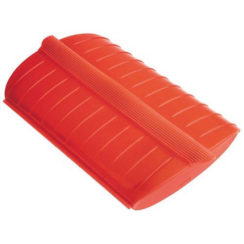 Lékué - Estuche de vapor con bandeja, 3-4 personas, color rojo width=