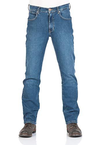 Wrangler Herren Jeans Arizona Regular Fit - Blue Burn - Cross Blue - Broke Blue, Größe:W 34 L 32, Farbe:Blue Heat (34H)