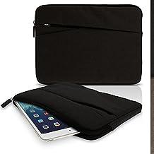 "igadgitz Negro Tela de Lona Funda Bolsa Sleeve Cubierta con Bolsillo Delantero para Sony Xperia Z, Z2, Z4 10.1"" Tablet"