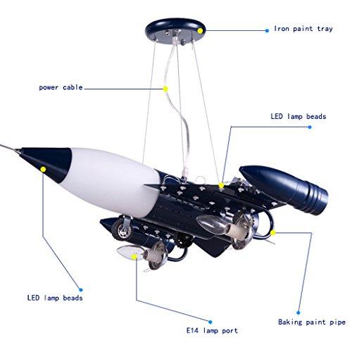 Guo Kinderzimmer Schlafzimmer Lichter Kämpfer Kreative Kronleuchter Junge Aircraft Lichter Metall E14 Lampe Hafen - 5