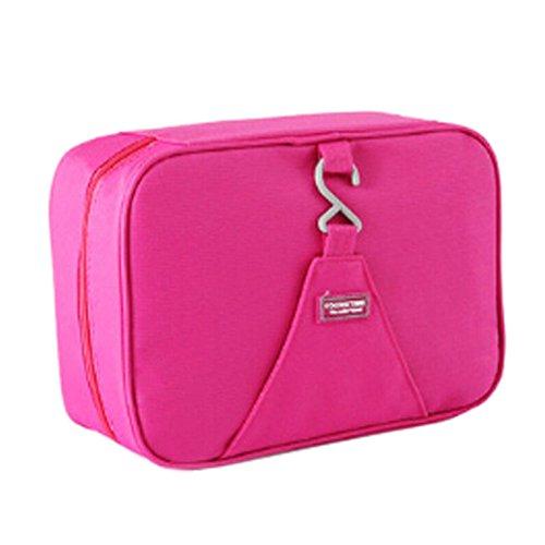 Unisexe maquillage cosmétique sac étanche Voyage Organisateur bagages,rouge A
