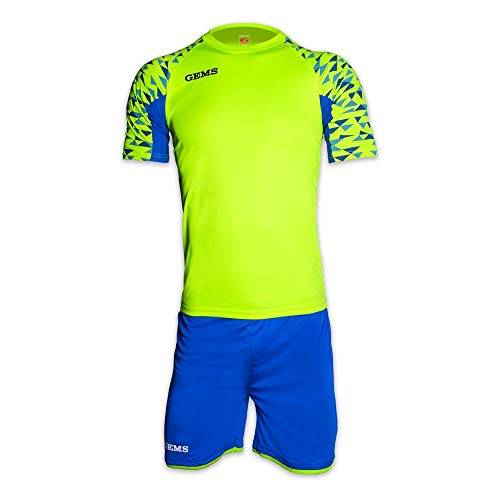 Gems completo da calcio da adulto kit west ham yellow fluo (m)