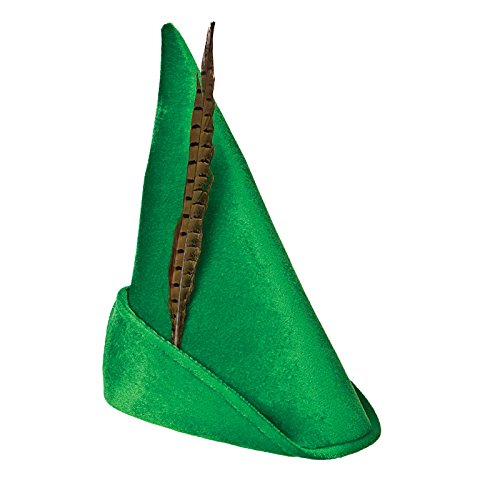 Deluxe Peter Pan Hat with feather Costume (Lo Pan Kostüm Halloween)