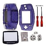 Timorn Gba Gehäuse, Gba Shell Ersatz Gehäuse Shell Pack mit Schraubenzieher für Gameboy Advance Gehäuse GBA Housing Controller (Transparentes Violett)
