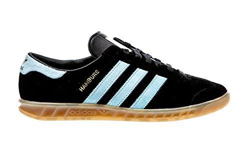 Adidas Hamburg Schuhe core black-blush blue-vintage white - 42