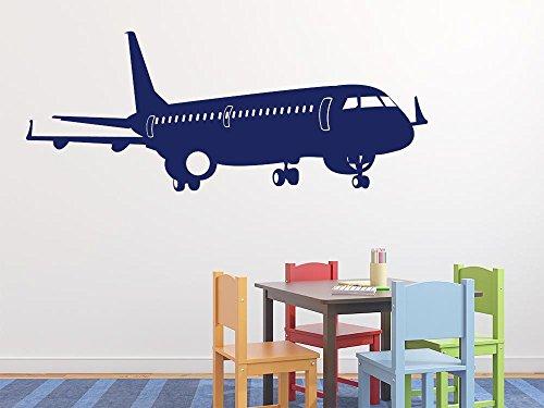 Wandtattoo für Kinderzimmer Jugendzimmer Flugzeug Passagierflugzeug Fahrzeuge (200x80cm // 958 baby doll)