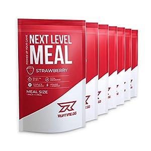 Runtime Next Level Meal Schokolade – vollwertiger Mahlzeitersatz für langanhaltende Sättigung, Energie, Konzentration und Leistungsfähigkeit, mit Vitaminen und Nährstoffen, 7 x 150g
