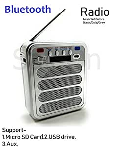 SaleOn™ Rechargeable Bluetooth Outdoor Fm Radio Speaker Portable Speaker with MP3 TF Memory Card, USB Drive, AUX, Bluetooth Multimedia Speaker with Antenna 1203
