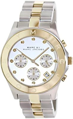 Marc Jacobs MBM3177 - Reloj con correa de piel para mujer, color plateado/gris de Marc Jacobs