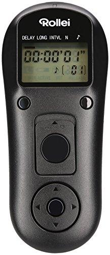 Rollei Fernauslöser Canon - kabelloser Funk-Fernauslöser mit 2.4 GHz mit bis zu 50m Reichweite, Kompatibel mit Canon EOS 1DX, 1DS uvw. - Schwarz (Zone, Einzelne Die Lcd)