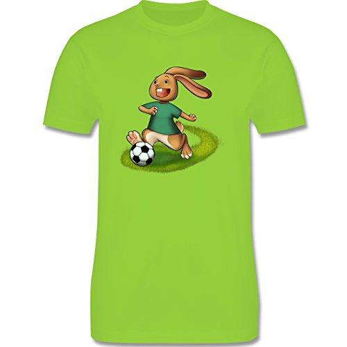 Fußball - Fußball Hase - Herren Premium T-Shirt Hellgrün