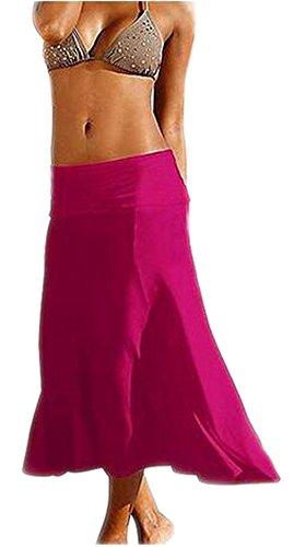 Arrowhunt Damen Mädchen Lang Einfarbig Dehnbare Kleider Strandkleider strandrock (Verschiedene Stile ) #7