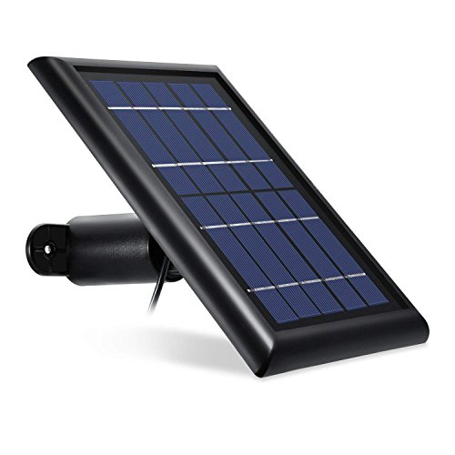 Solar Panel für Arlo PRO, Arlo PRO 2, Arlo GO und Arlo Light, Solar Charging Device von Wasserstein können Sie Ihre Arlo Outdoor-Kamera kontinuierlich mit Strom versorgen