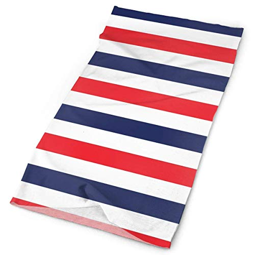 Cotton Striped Headwrap (Nautical Sailors Navy Striped Headwrap Unisex Headwear Headband Neck Scarf Elastic Do Rag Cap Magic Head Scarf Bandana Novelty Headdress Face Mask Neck Gaiter)