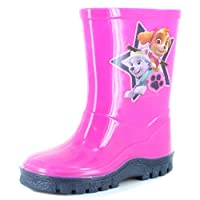 Paw Patrol New Boys Blue Chracter Wellington Boots - Pink/Blue - UK Sizes 5-10