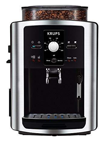 Krups EA8010 Espresso machine 1.7L 2tazze Nero, Acciaio inossidabile macchina per il caffè