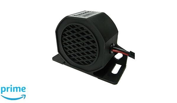 Yuesonic 102dB White Noise Backup Alarm R/ückfahrwarner mit f/ür 12//24/V Fahrzeuge