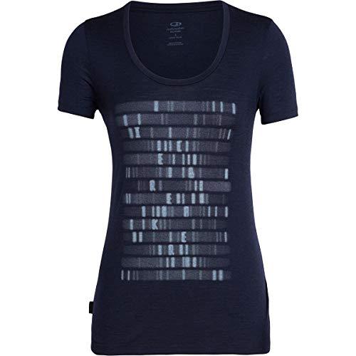 Icebreaker Damen WMNS Tech Lite SS Scoop Sequence T-Shirt, Midnight Navy, XS -
