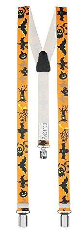 Bretelle per bambini di alta qualità di xeira & reg; - fatto in germania/halloween/pirate/airplanes/colori uni (halloween - arancione)