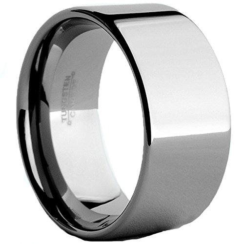 Ultimate Metals Co. 12MM Herren Wolframcarbid Ehering,Bequemlichkeit Passen Größe 54