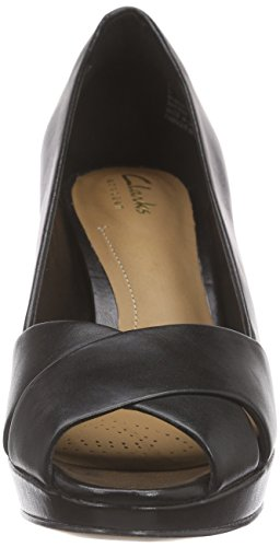 Clarks Jenness Cloud Damen Pumps Schwarz (Black Leather)