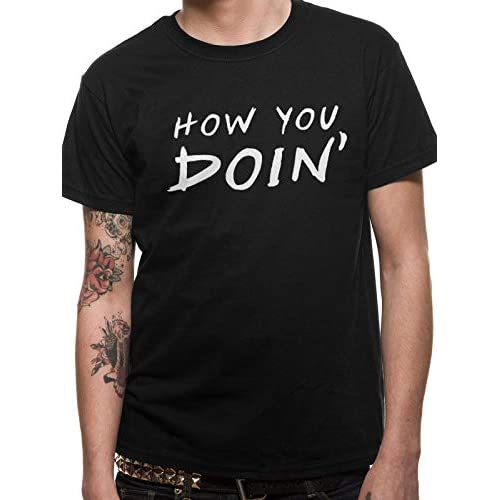 T-Shirt (Unisex-L) How U Doin (Black) 3