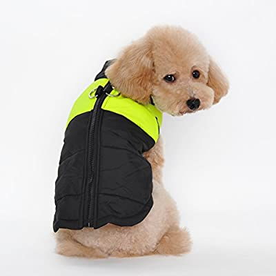 Ericoy Small Waterproof Dog Coat Jacket Warm Padded Puffer Pet Dog Puppy Clothes Vest (Pink,XXL)