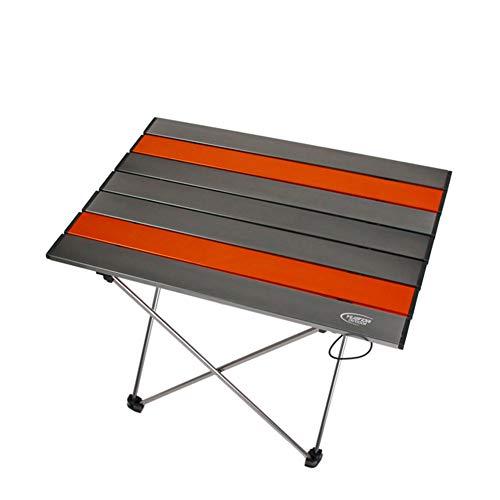 PeiQiH Portable Aluminium Table Pliable, Extérieur Léger Anti-dérapant Loisir Table de Pique-Nique Compact Jardin Voyage Plage Patio Table de Camping-B-Medium 56x45x40cm