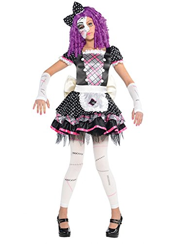 Broken Halloween Doll Kostüme (Kinder Größe Halloween Gothic Broken Doll Kostüm Small (4-6)