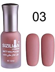 Toamen Vernis à ongles mat mat 12 ml Séchage rapide Longue durée Nail Art Ongle mat Gel polonais (C)