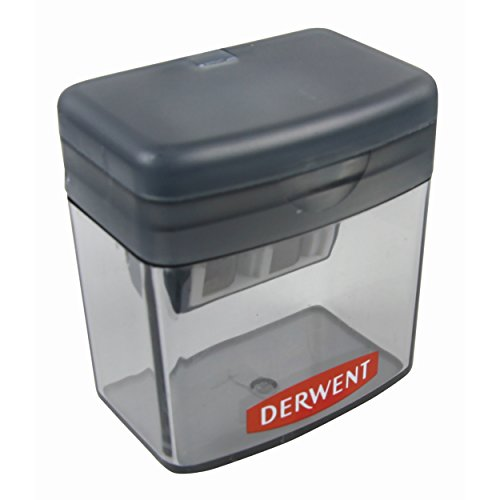 Derwent manual twin hole sharpener temperamatite a 2 fori con serbatoio trasparente