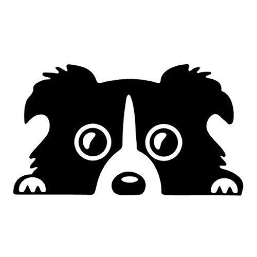 Functy Reflektierendes Muster Collie Hund Haustier Auto Hund Aufkleber Anti Scratch Vinyl Aufkleber
