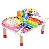 Baby Muziekinstrumenten Set, Xylofoon voor Kinderen, Houten Sensorische Speelgoed Verjaardagscadeauset voor Jongens Meisjes (10 stuks)