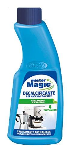 Mister Magic, Decalcificante Macchinetta Caffè, Trattamento Anticalcare, per Piccoli Elettrodomestici, Biodegradabile al 98%, 200 ml