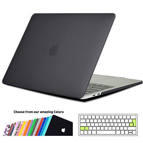 MacBook Air 13 Hülle Schale,iNeseon Ultra Slim Plastik Hartschale Tasche Cover Zubehör, US schwarz und EU Transparent Tastatur Abdeckung Schutzhülle für Apple MacBook Air 13.3 Zoll [Modell:A1466 und A1369] (Schwarz) (- Tastatur-abdeckung Macbook Air 13inch)