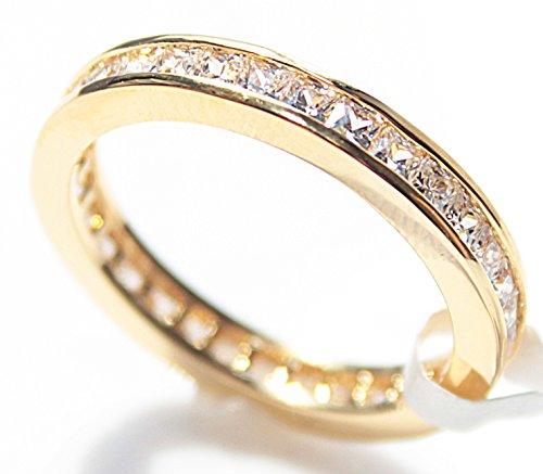 womens-stunning-gold-filled-18-kt-ring-flawless-princess-cut-lab-diamonds-eternity-band-uk-guarantee
