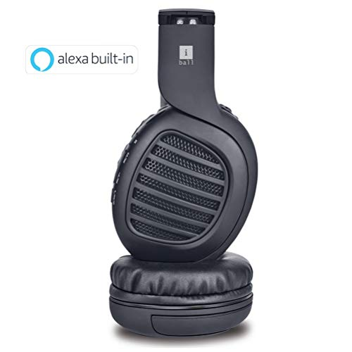 iBall Decibel Bluetooth 5.0 Headphone with SD/FM/Alexa Built-in (Black Edition)